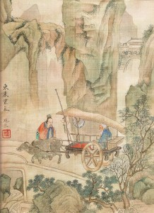 Laozi at the Western gate with Yin Xi 001